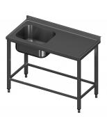 Įgilintas stalas modulinėm lentynom ir plautuve Image