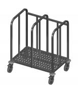 Dvigubas padėklų vežimėlis Image