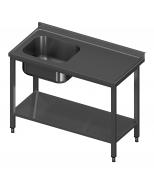 Igilintas stalas su viena plautuve ir lentyna Image