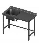 Igilintas stalas su viena plautuve be lentynos Image