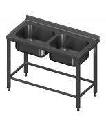 Įgilintas stalas modulinėm lentynom ir dvejomis plautuvėm Image