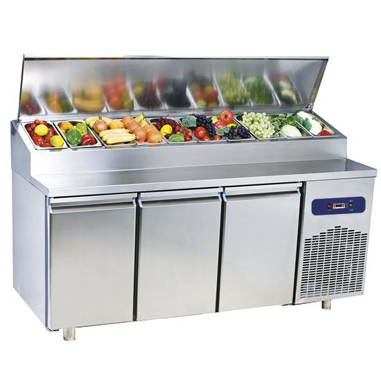 Šaldomas stalas 2 durys GN 1/1, saladetės talpa 10x GN 1/3 h = 150 mm, -2 ° / + 8 ° C Image