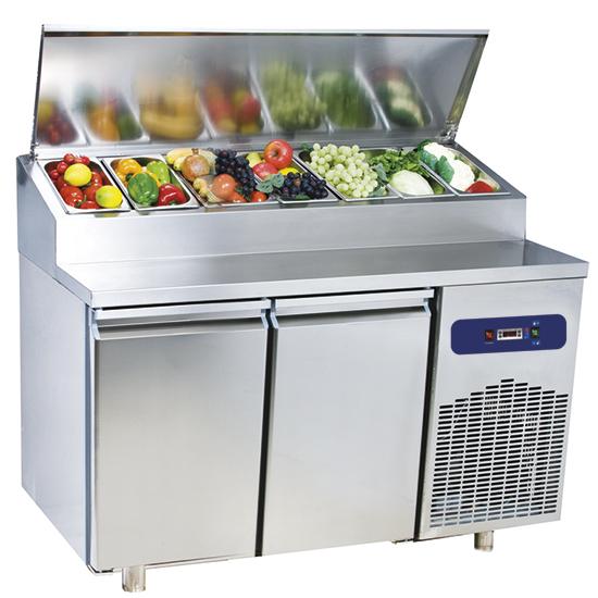 Šaldomas stalas 2 durys GN 1/1, saladetės talpa 7x GN 1/3 h = 150 mm, -2 ° / + 8 ° C Image
