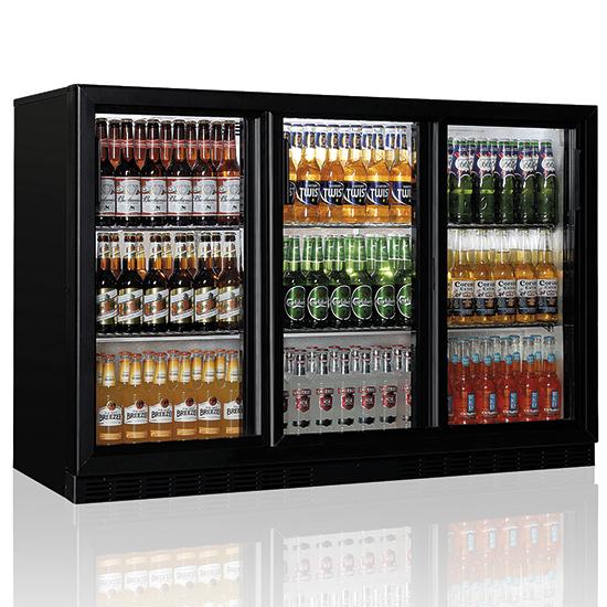 Pobarinis šaldytuvas 3 slenkančios durys, 320 litrai, +1°/+10°C Image