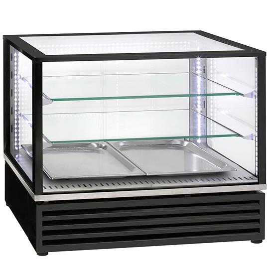 Vitrina su 2 stiklo lentynomis ir stumdomosiomis durimis, + 2 ° / + 10 ° C Image