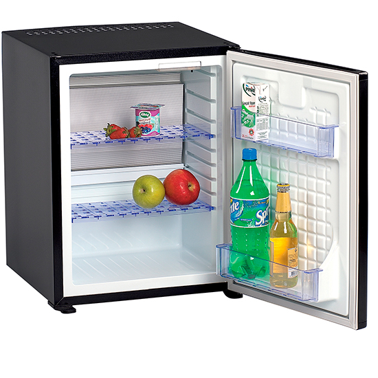 Šaldytuvas su 2 lentynomis, juodos spalvos, 38 litrų Image
